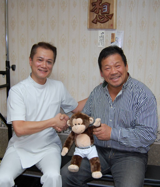 戸栗先生と藤波選手